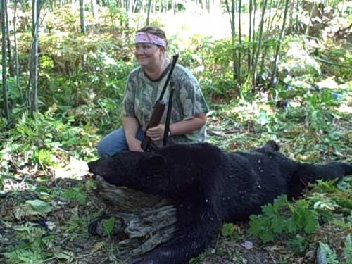 Watch Angela rundle harvest her first Wisconsin Black Bear