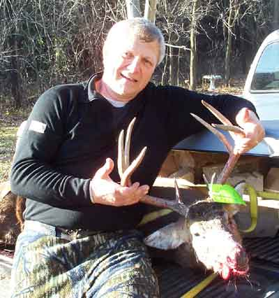 Harry Gordy harvests this nice 8 point buck in Northern Eau Claire County with his bow this week.
