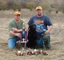 Jason Bauer and Chester Bauer taking 1st place in the 